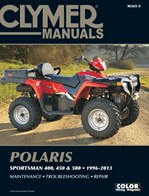 M365 Clymer Manuals Polaris Sportsman 400 450 500 ATV Quad Service Repair Shop Manual