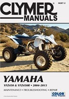 M287 Clymer Yamaha YFZ450 ATV Quad Service Shop Repair Maintenance Manual 