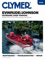 B736 Clymer Manuals Evinrude Johnson Outboard Motor Manual